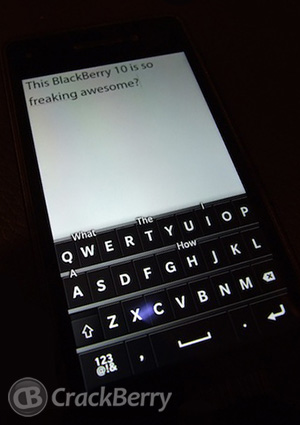 BlackBerry 10 will have an awesome virtual keyboard!