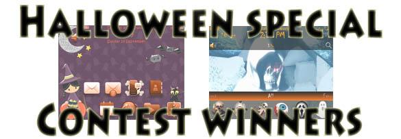 Halloween theme winners