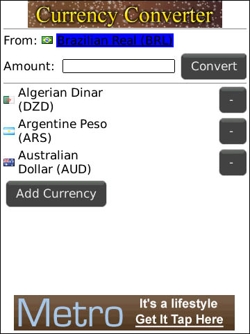 CurrencyConverter for BlackBerry