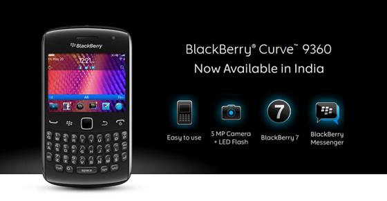 BlackBerry Curve 9360 India