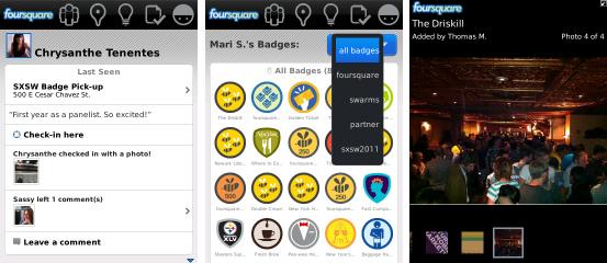 Foursquare for BlackBerry v1.9.89