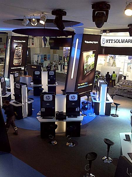 BlackBerry booth at MWC11