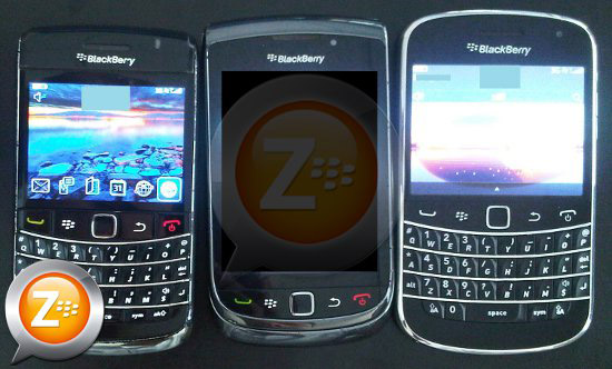BlackBerry Bold Touch 9900 with a bold 9700 and Torch 9800