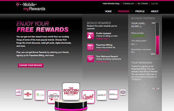T-Mobile myRewards program