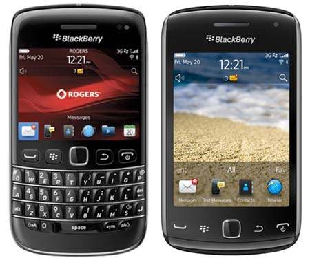 BlackBerry Bold 9790 and Curve 9380