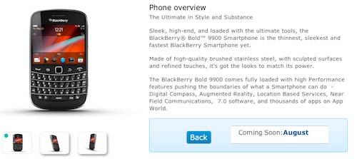 BlackBerry Bold 9900 O2 UK