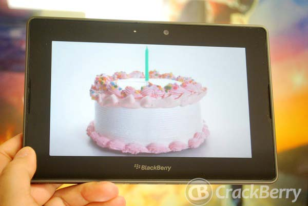BlackBerry PlayBook Birthday