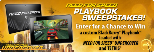 EA Mobile NFS PlayBook Sweepstakes