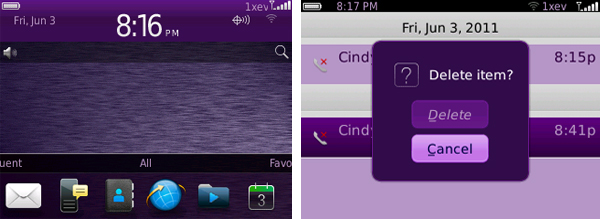 Colored Textures by Cindy's BlackBerry Themes
