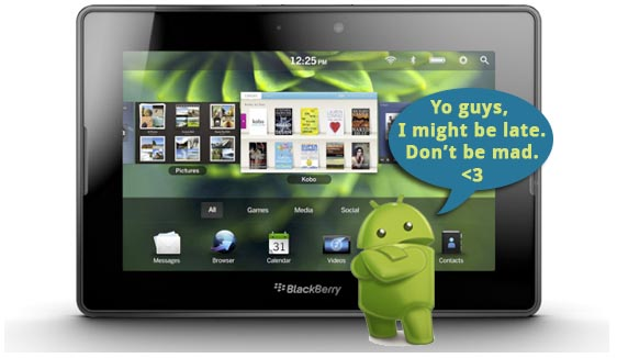 BlackBerry PlayBook Android app player