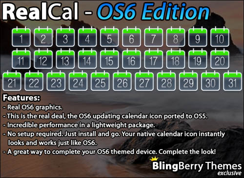 RealCal by BlingBerry Themes