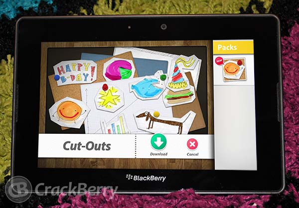 Scrapbook for the BlackBerry PlayBook