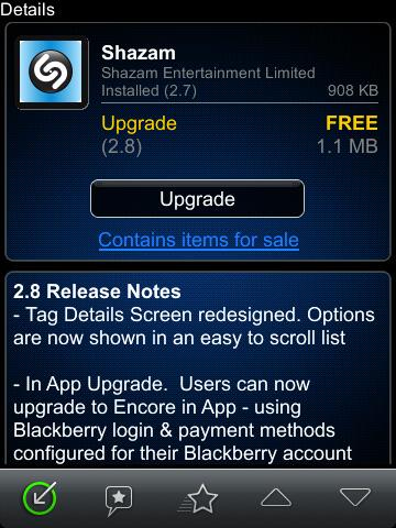 Shazam for BlackBerry