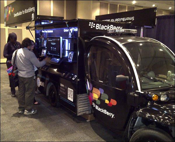 SmartBuilder for BlackBerry Tour van
