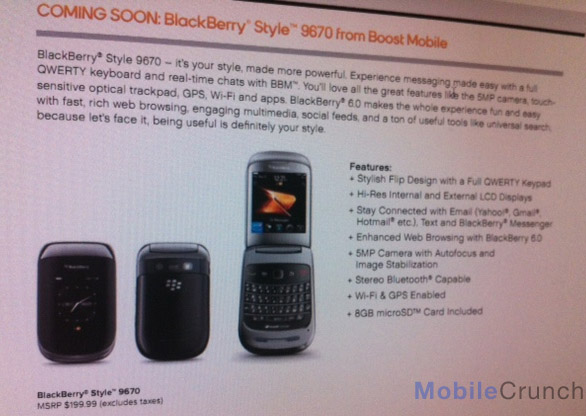 BlackBerry Style coming to Boost Mobile