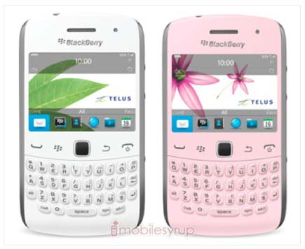 BlackBerry Curve 9380 pink and white