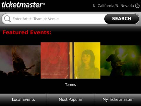 Ticketmaster for BlackBerry