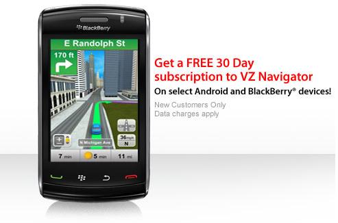 VZ Navigator for BlackBerry