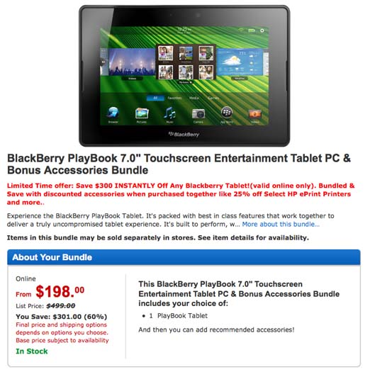 BlackBerry PlayBook sale Walmart