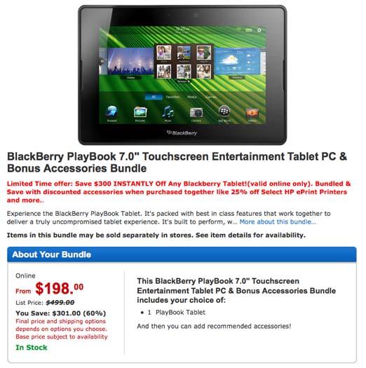 BlackBerry PlayBook sale Walmart