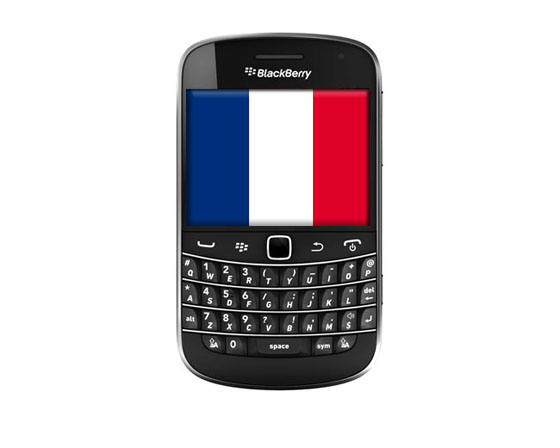 BlackBerry Bold 9900 French Flag