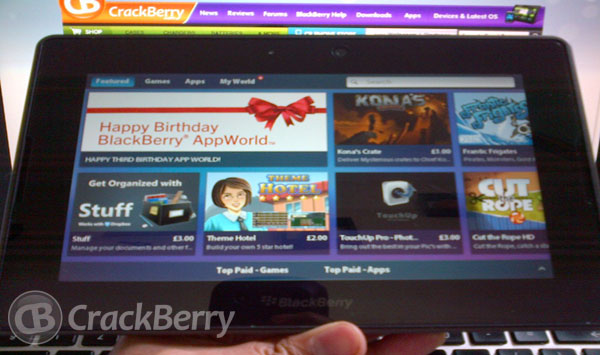 BlackBerry App World on PlayBook