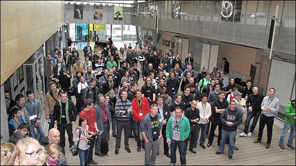 Developers attending BlackBerry 10 Mini Jam, Maribor