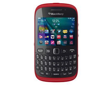 Red BlackBerry Curve 9320 front view