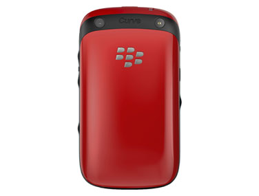 Red BlackBerry Curve 9320 back view