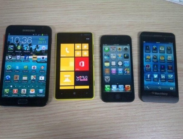 BlackBerry 10 L-series lines up against Samsung Galaxy Note II, Nokia Lumia 920 and iPhone 5