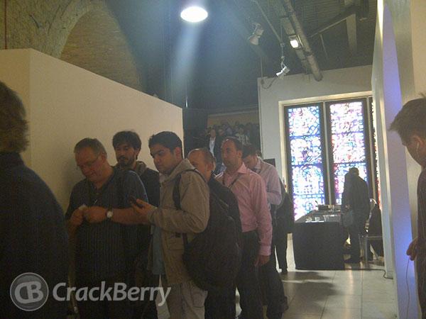 BlackBerry 10 Jam London - Queue for picking up Dev Alpha