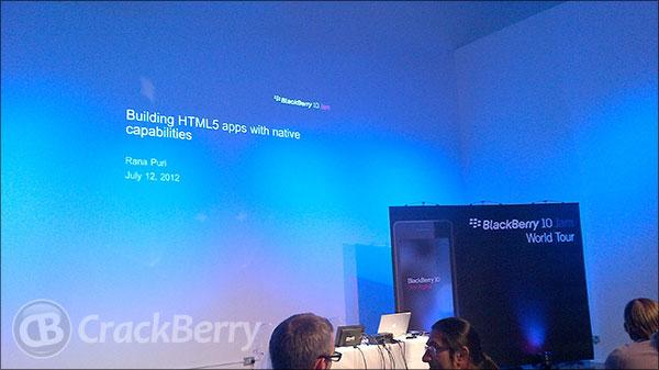 BlackBerry 10 Jam London - Web Track Session