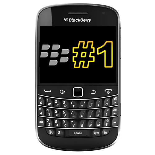 BlackBerry No1 in the UK