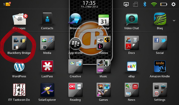 BlackBerry Bridge Icon