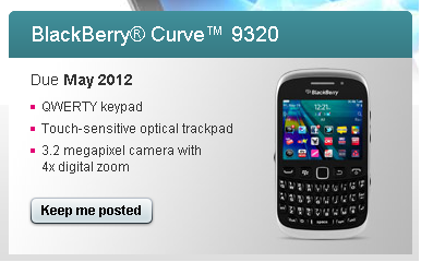 BlackBerry Curve 9320 coming soon to T-Mobile UK