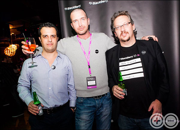 Luca, Branko and Aaron at BlackBerry VIP Party, Maribor