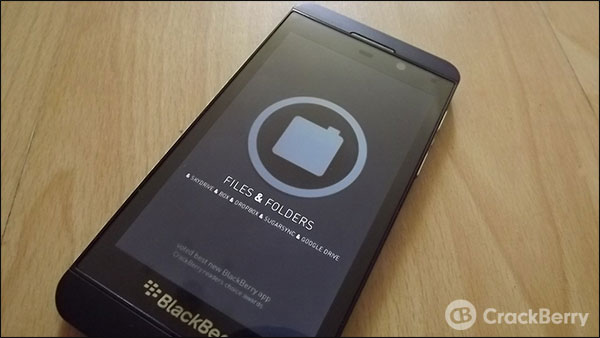 Files and Folders now available for BlackBerry 10