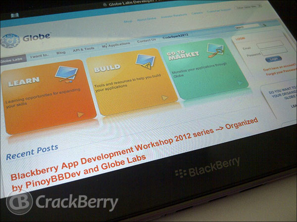 BlackBerry App Development Workshop being held in the Philippines