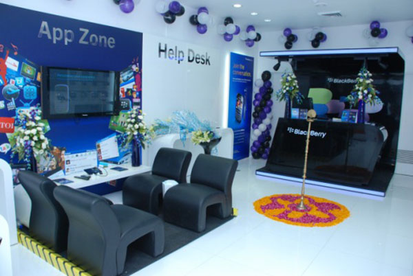 Inside BlackBerry store Gurgaon