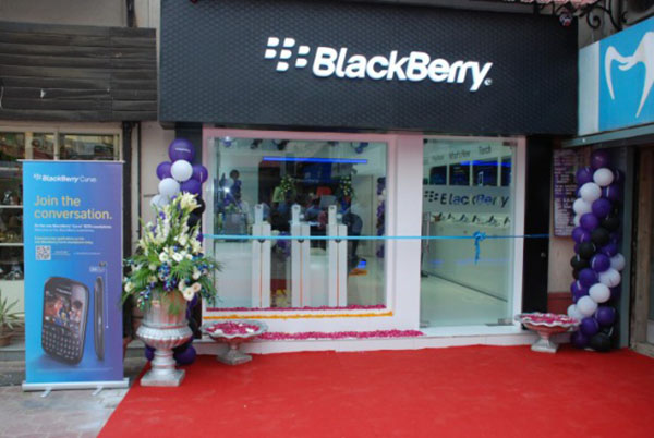BlackBerry premium store in Gurgaon, India
