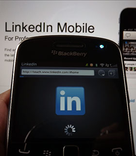 Do you use LinkedIn for BlackBerry and want an update or are you fine with the browser version?
