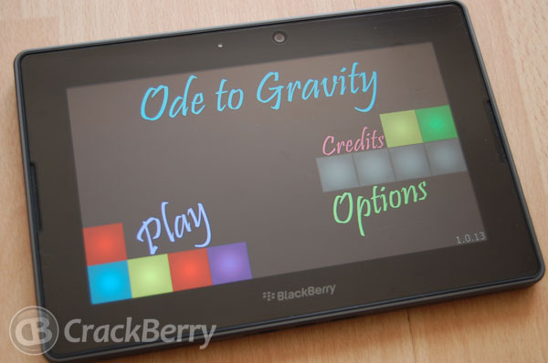 Ode to Gravity for the BlackBerry PlayBook