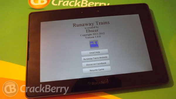 Runaway Trains for the BlackBerry PlayBook