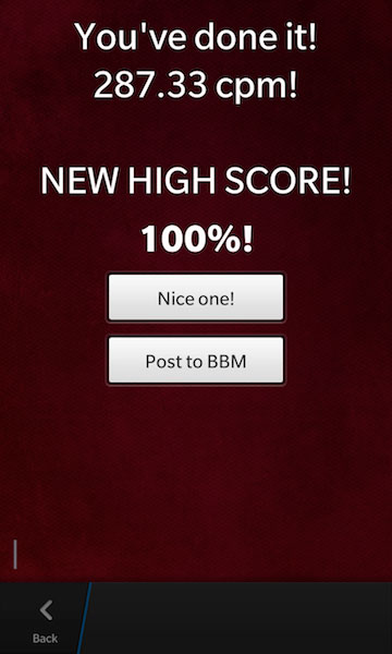 High Score screenshot of Thumb Master