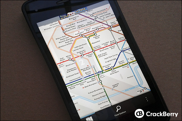 London Tube Map now available for BlackBerry 10