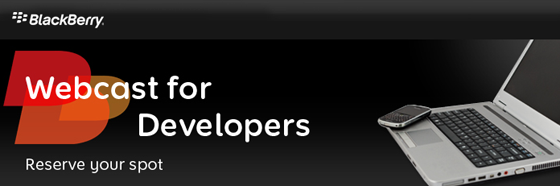 Calling web developers for a webcast
