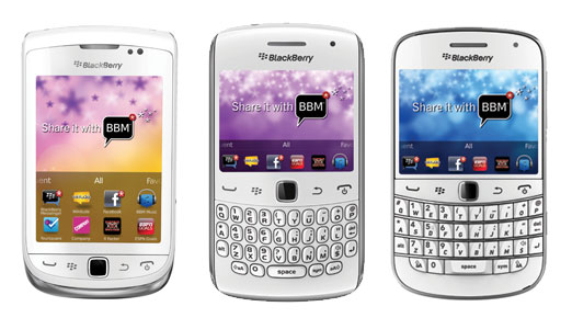 White BlackBerry 7 devices