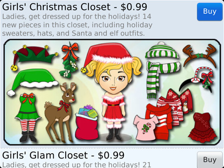 Girls Christmas Pack for Jingu Avatars app