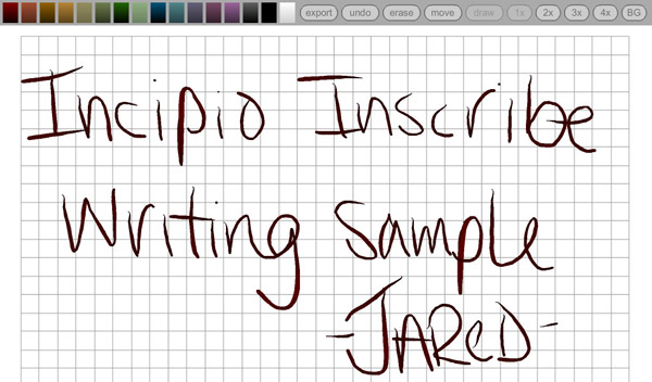 Inscribe Writing Sample
