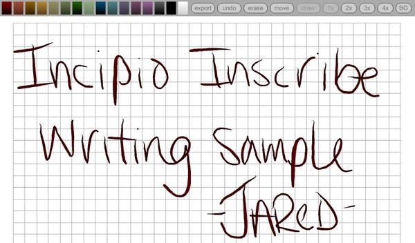 Inscribe Writing Sample